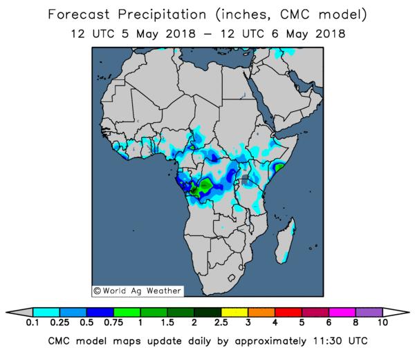 موقع ابو سعد للطقس/ توقعات  الامطار من موقع worldagweather